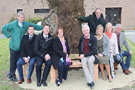 Donal Walsh memorial bench created by IT Tralee students unveiled at CBS the Green, Tralee