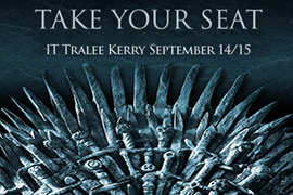 Winter is Coming to IT Tralee-Game Of Thrones Fans Take Your Seat on The Iron Throne.