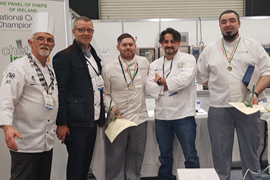 IT Tralee National Culinary Apprenticeship Students Get Gold at Food and Bev Live 2020