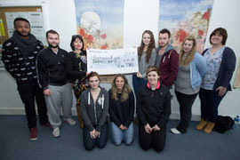 IT Tralee Media Students Raise 616.00 euro for the Saoirse Foundation