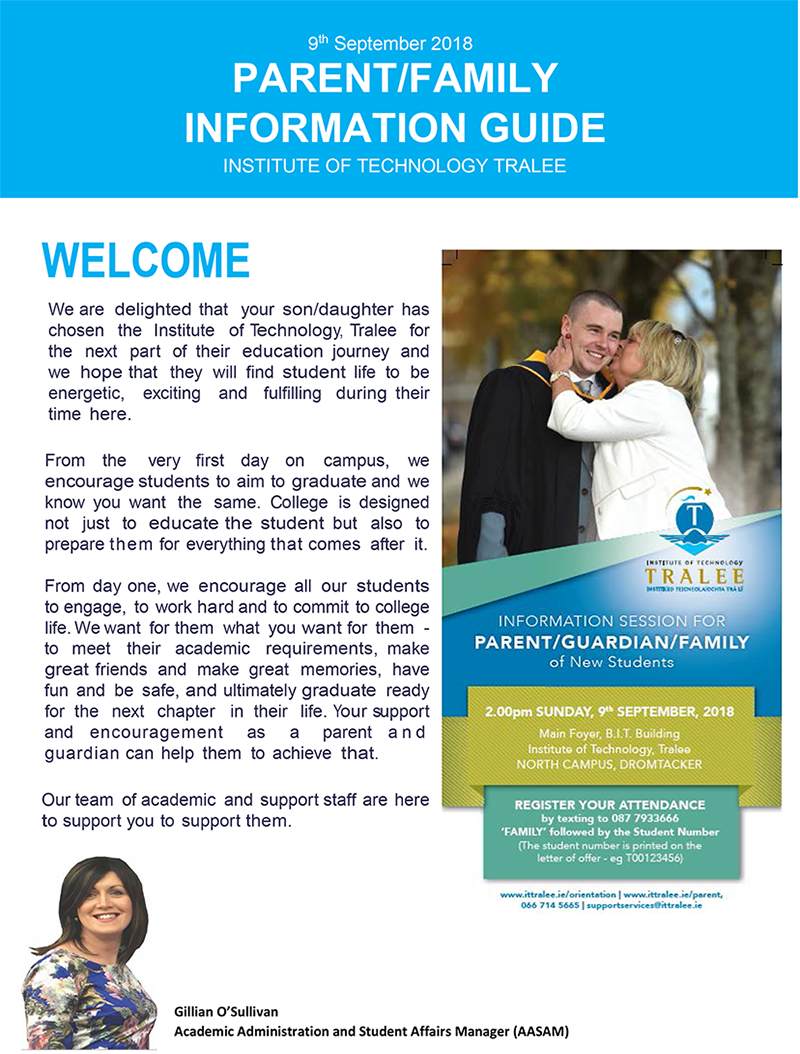 Parent/Family Information Guide Cover