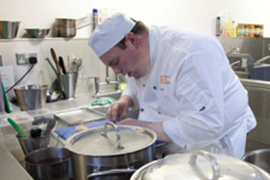 Keith Pigott in the Knorr Student Chef of the Year Competition