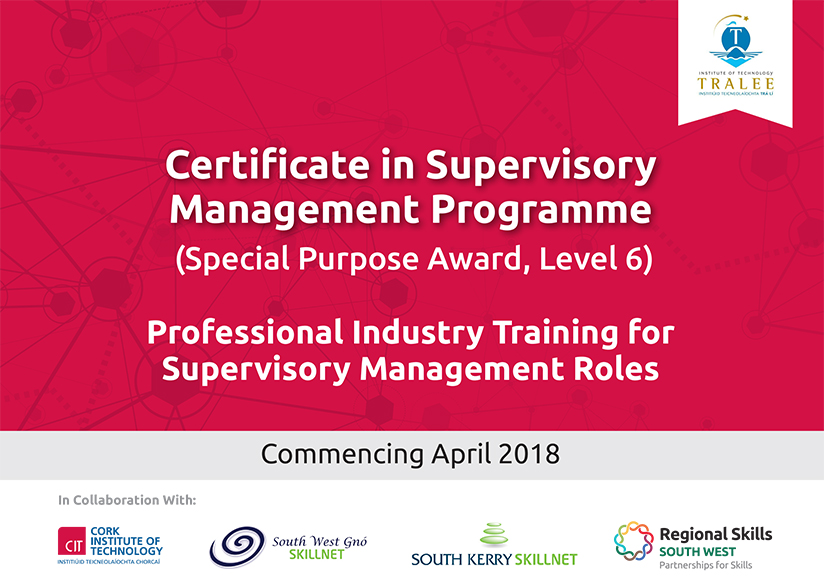 Certificate in Supervisory Management Programme Cover