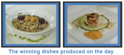 The winning dishes produced on the day